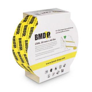 Dampfbremsen Gelb - 60mm x 40lfm Cral Klebeband zur Verklebung von Dampfsperrfolien Dampfbremsfolien 10 x BMD